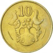 Chypre, 10 Cents, 1985, TTB+, Nickel-brass, KM:56.2