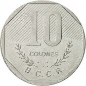 Coin, Costa Rica, 10 Colones, 1983, AU(50-53), Stainless Steel, KM:215.1
