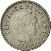 Colombia, 10 Centavos, 1974, EF(40-45), Nickel Clad Steel, KM:253