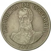 Colombia, Peso, 1976, EF(40-45), Copper-nickel, KM:258.1
