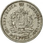 Venezuela, Bolivar, 1967, British Royal Mint, TTB+, Nickel, KM:42