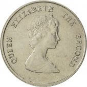 East Caribbean States, Elizabeth II, 25 Cents, 1989, EF(40-45), Copper-nickel