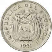Ecuador, 20 Centavos, 1981, MS(60-62), Nickel plated steel, KM:77.2a