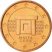 Malte, Euro Cent, 2008, FDC, Copper Plated Steel, KM:125