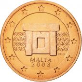 Malte, 2 Euro Cent, 2008, FDC, Copper Plated Steel, KM:126