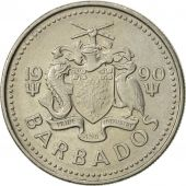 Barbados, 25 Cents, 1990, Franklin Mint, SUP, Copper-nickel, KM:13