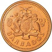 Barbados, Cent, 1993, Royal Canadian Mint, SUP, Copper Plated Zinc, KM:10a