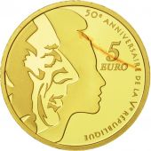 France, 5 Euro, Semeuse, 2008, BE FDC, Or, KM:1538