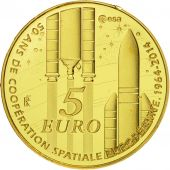 France, 5 Euro, Europa, 2014, BE FDC, Or