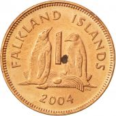 Falkland Islands, Elizabeth II, Penny, 2004, SUP+, Copper Plated Steel, KM:130