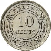 Belize, 10 Cents, 1979, Franklin Mint, AU(55-58), Copper-nickel, KM:35