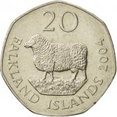 Falkland Islands, Elizabeth II, 20 Pence, 2004, SUP, Copper-nickel, KM:134
