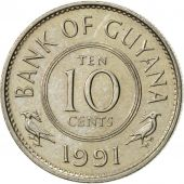 Guyana, 10 Cents, 1991, SUP, Copper-nickel, KM:33