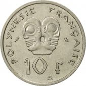 French Polynesia, 10 Francs, 1967, Paris, SUP, Nickel, KM:5