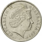 Australia, Elizabeth II, 10 Cents, 1999, AU(55-58), Copper-nickel, KM:402