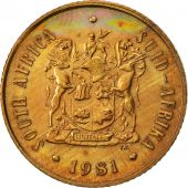 South Africa, 2 Cents, 1981, EF(40-45), Bronze, KM:83