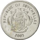 Seychelles, 25 Cents, 2003, Pobjoy Mint, AU(50-53), Nickel Clad Steel, KM:49a