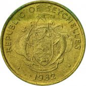 Seychelles, 5 Cents, 1982, British Royal Mint, EF(40-45), Brass, KM:47.1