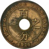 FRENCH INDO-CHINA, Cent, 1926, Paris, TB, Bronze, KM:12.1