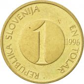 Slovenia, Tolar, 1996, AU(50-53), Nickel-brass, KM:4