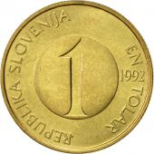 Slovenia, Tolar, 1992, AU(50-53), Nickel-brass, KM:4