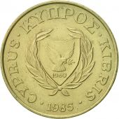Chypre, 5 Cents, 1985, SUP, Nickel-brass, KM:55.2
