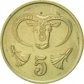Chypre, 5 Cents, 1988, SUP, Nickel-brass, KM:55.2