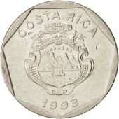 Costa Rica, 5 Colones, 1993, KM:214.3