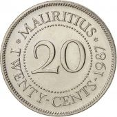 Maurice, 20 Cents, 1987, KM:53