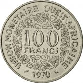 West African States, 100 Francs, 1970, Paris, SUP, Nickel, KM:4