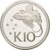 Papua New Guinea, 10 Kina, 1975, Franklin Mint, MS(65-70), Silver, KM:8a
