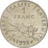 France, Semeuse, Franc, 1993, SUP+, Nickel, KM:925.2, Gadoury:474