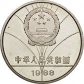 CHINA, PEOPLES REPUBLIC, 5 Yüan, 1988, SUP+, Argent, KM:203