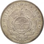 South Africa, 5 Shillings, 1892, AU(55-58), Silver, KM:8.1