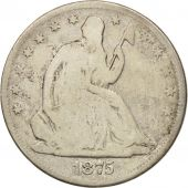 États-Unis, Seated Liberty Half Dollar, 1875, Carson City, KM A99