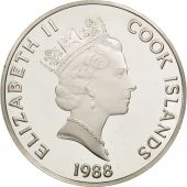 Îles Cook, Elizabeth II, 50 Dollars, 1988, Franklin Mint, USA, FDC, KM 107