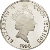 Îles Cook, Elizabeth II, 50 Dollars, 1988, Franklin Mint, USA, FDC, KM 68