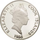 Îles Cook, Elizabeth II, 50 Dollars, 1988, Franklin Mint, USA, FDC, KM 66