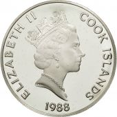Îles Cook, Elizabeth II, 50 Dollars, 1988, Franklin Mint, USA, FDC, KM 63