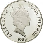 Îles Cook, Elizabeth II, 50 Dollars, 1988, Franklin Mint, USA, FDC, KM 105