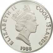 Îles Cook, Elizabeth II, 50 Dollars, 1988, Franklin Mint, USA, FDC, KM 97