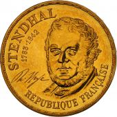 France, Stendhal, 10 Francs, 1983, FDC, Nickel-Bronze, KM:953, Gadoury:817