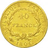 France, Napoléon I, 40 Francs, 1806, Limoges, TTB, Or, KM:675.3, Gadoury:1082