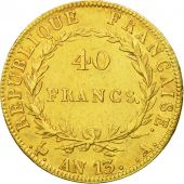 France, Napoléon I, 40 Francs, 1805, Paris, TTB+, Or, KM:664.1, Gadoury:1081