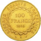 France, Génie, 100 Francs, 1886, Paris, AU(50-53), Gold, KM:832, Gadoury:1137