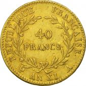 France, Napoléon I, 40 Francs, 1803, Paris, TTB, Or, KM:652, Gadoury:1080