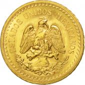 Mexico, 2-1/2 Pesos, 1945, Mexico City, AU(55-58), Gold, KM:463
