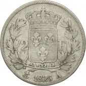 France, Charles X, 2 Francs, 1825, Paris, VF(20-25), Silver, KM:725.1