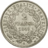 France, Cérès, 2 Francs, 1849, Paris, MS(60-62), Silver, KM:760.1, Gadoury:522