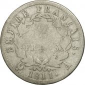 France, Napoléon I, 2 Francs, 1811, Paris, F(12-15), Silver, KM:693.1